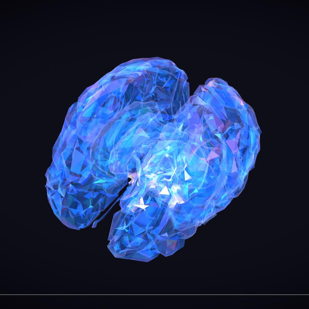 Low Polygon Art Medical Brain Roentgen 3d model 3ds 270598
