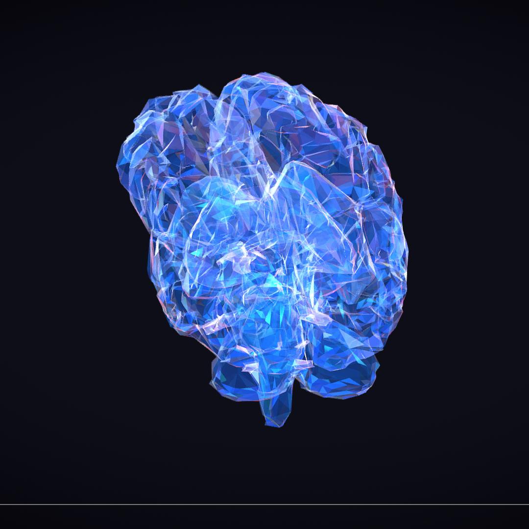 Low Polygon Art Medical Brain Roentgen 3d model 3ds 270599
