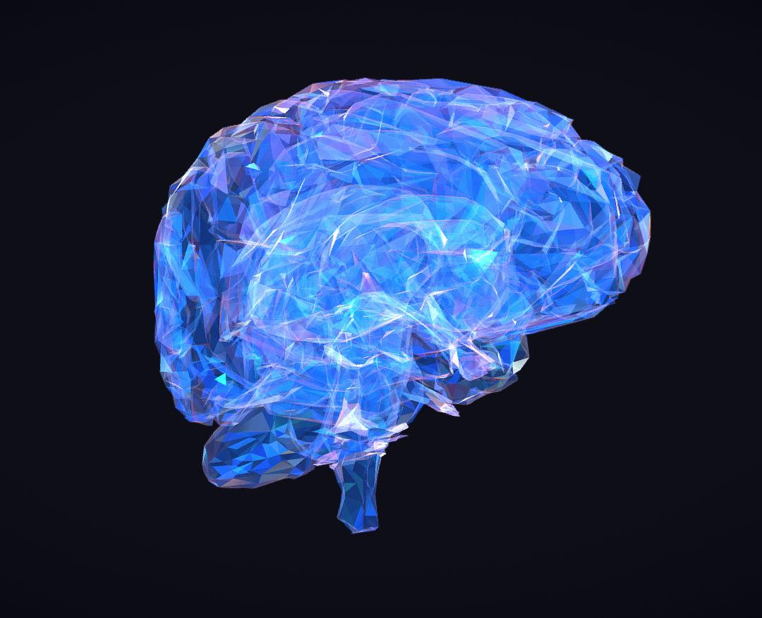 Low Polygon Art Medical Brain Roentgen 3d model 3ds