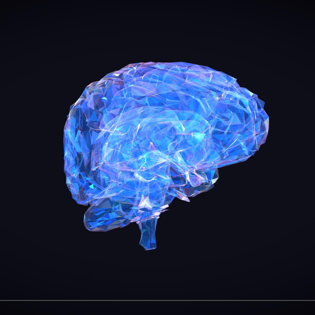Low Polygon Art Medical Brain Roentgen 3d model 3ds 270600