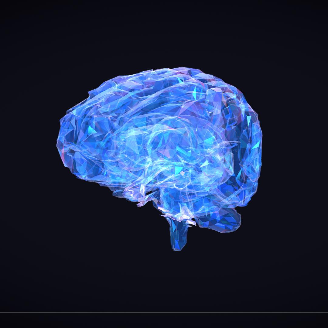 Low Polygon Art Medical Brain Roentgen 3d model 3ds 270601