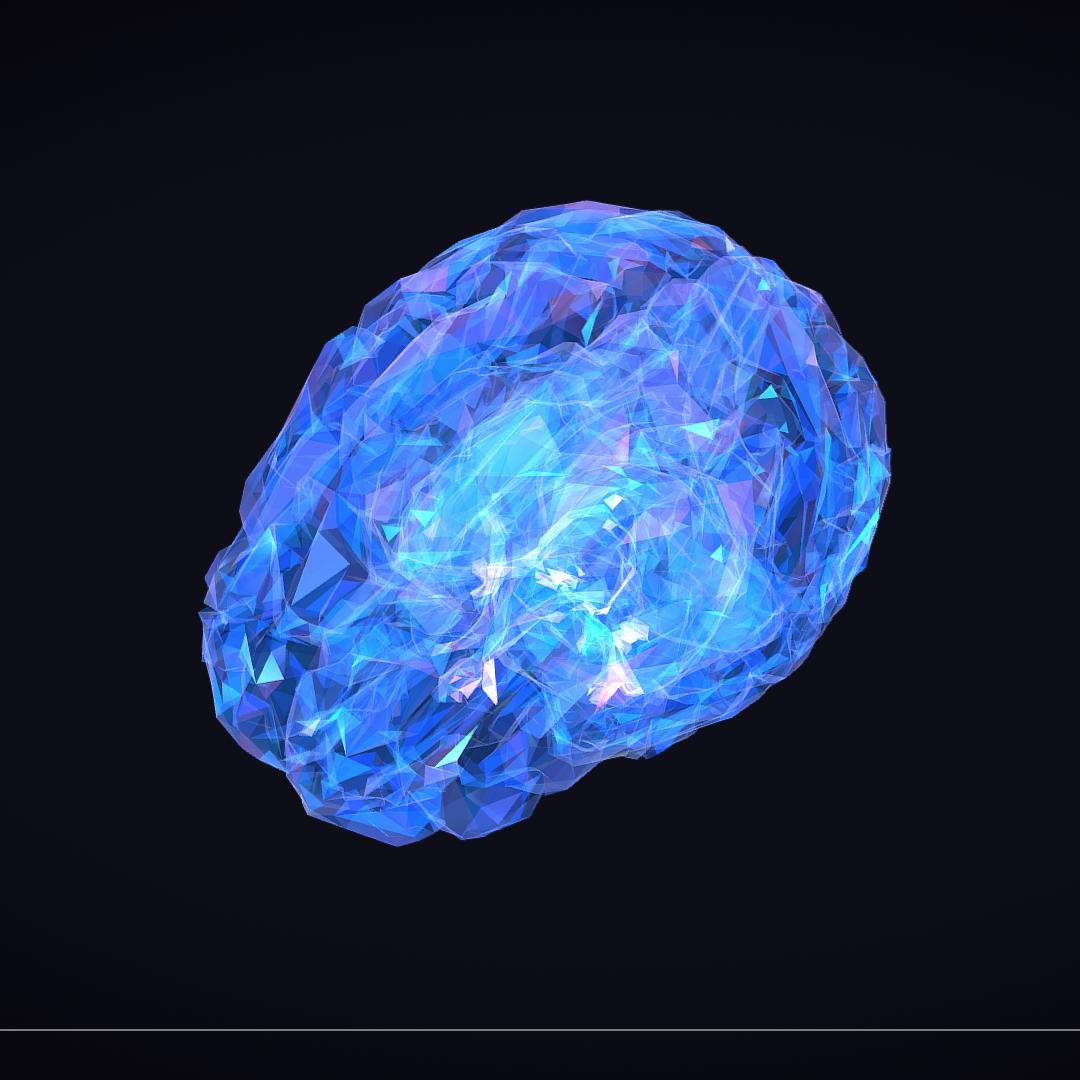 Low Polygon Art Medical Brain Roentgen 3d model 3ds 270602