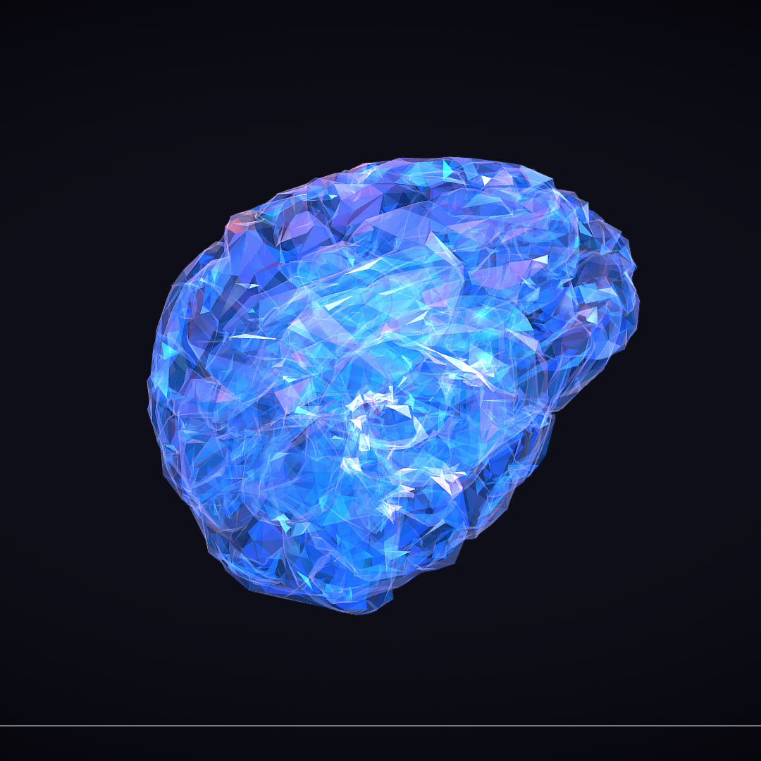 Low Polygon Art Medical Brain Roentgen 3d model 3ds 270603