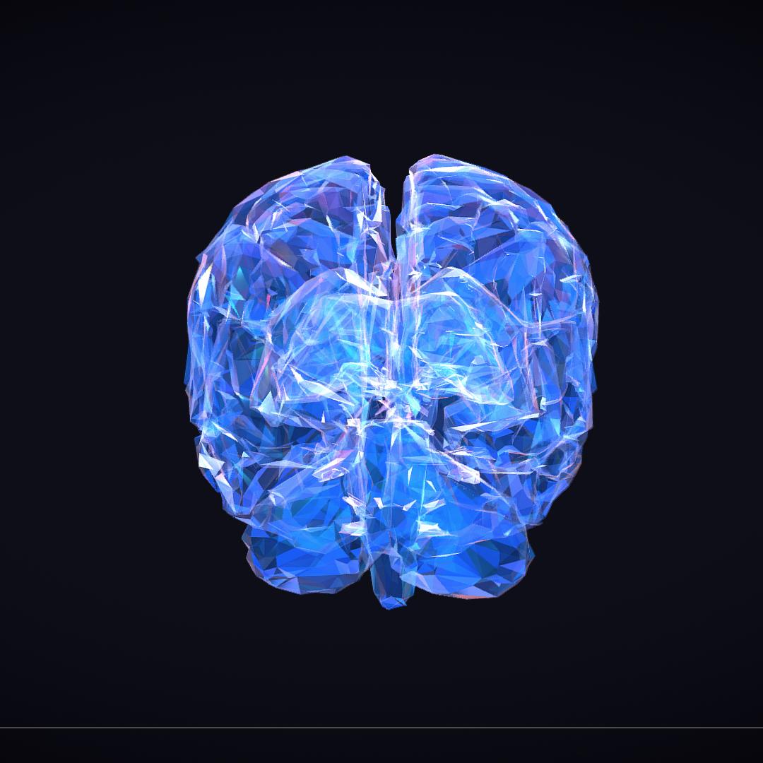 Low Polygon Art Medical Brain Roentgen 3d model 3ds 270605