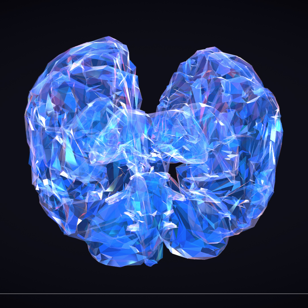 Low Polygon Art Medical Brain Roentgen 3d model 3ds 270606