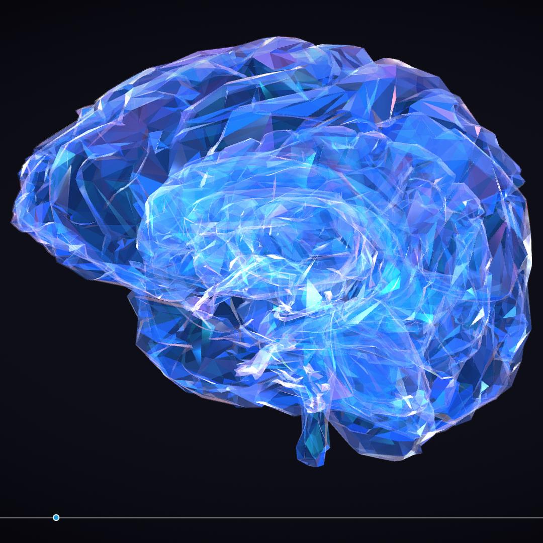 Low Polygon Art Medical Brain Roentgen 3d model 3ds 270607