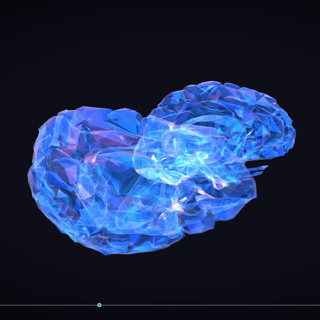 Low Polygon Art Medical Brain Roentgen 3d model 3ds 270609