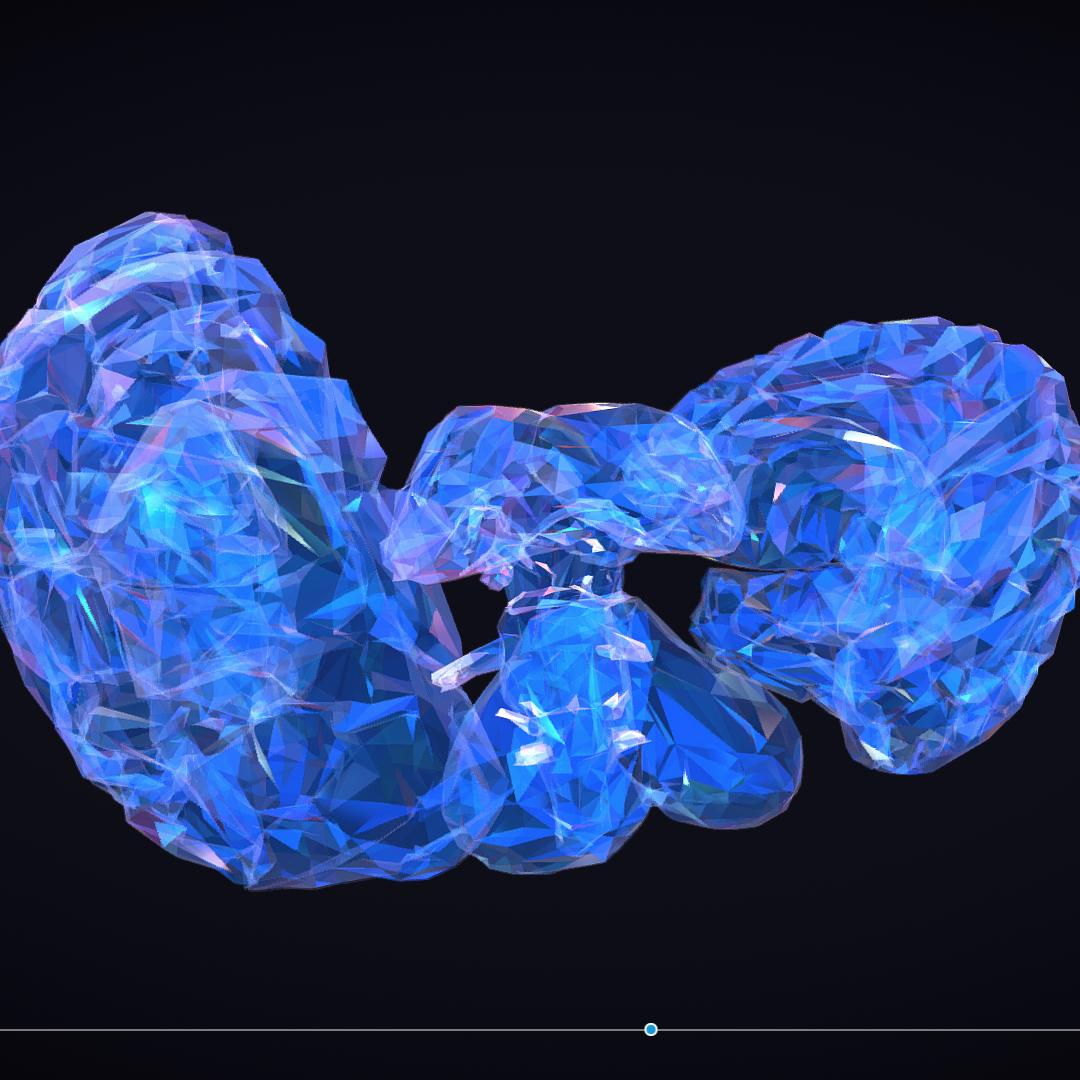 Low Polygon Art Medical Brain Roentgen 3d model 3ds 270611