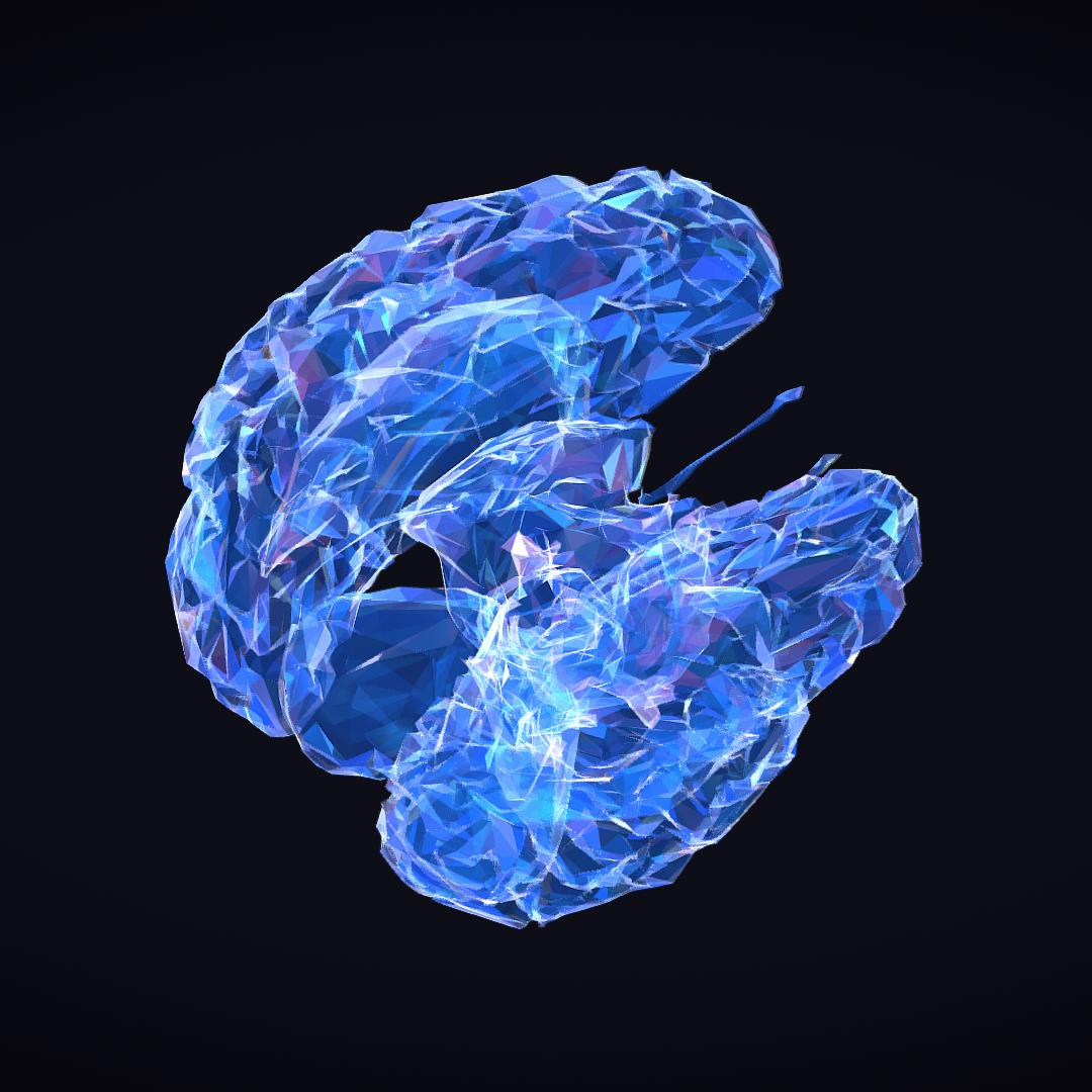 Low Polygon Art Medical Brain Roentgen 3d model 3ds 270613