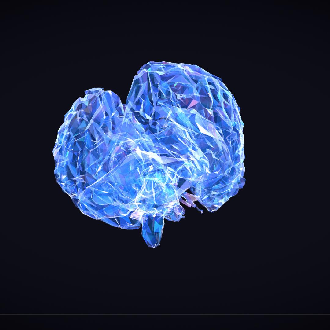 Low Polygon Art Medical Brain Roentgen 3d model 3ds 270615