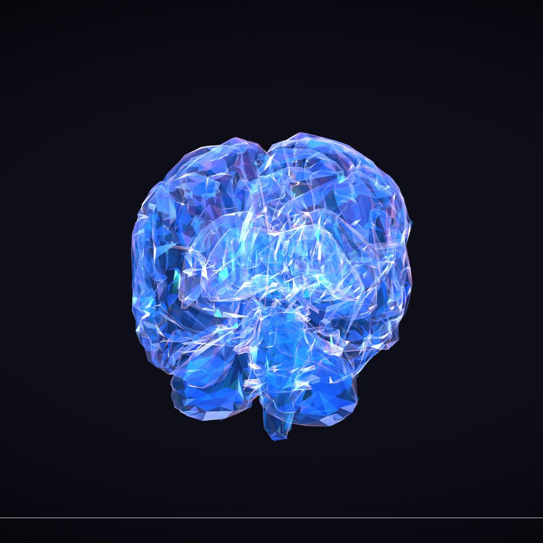 Low Polygon Art Medical Brain Roentgen 3d model 3ds 270616