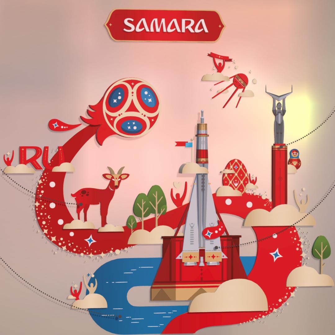 official world cup 2018 russia host city samara 3d model