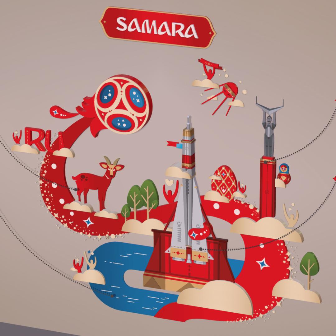 official world cup 2018 russia host city samara 3d model max 270640