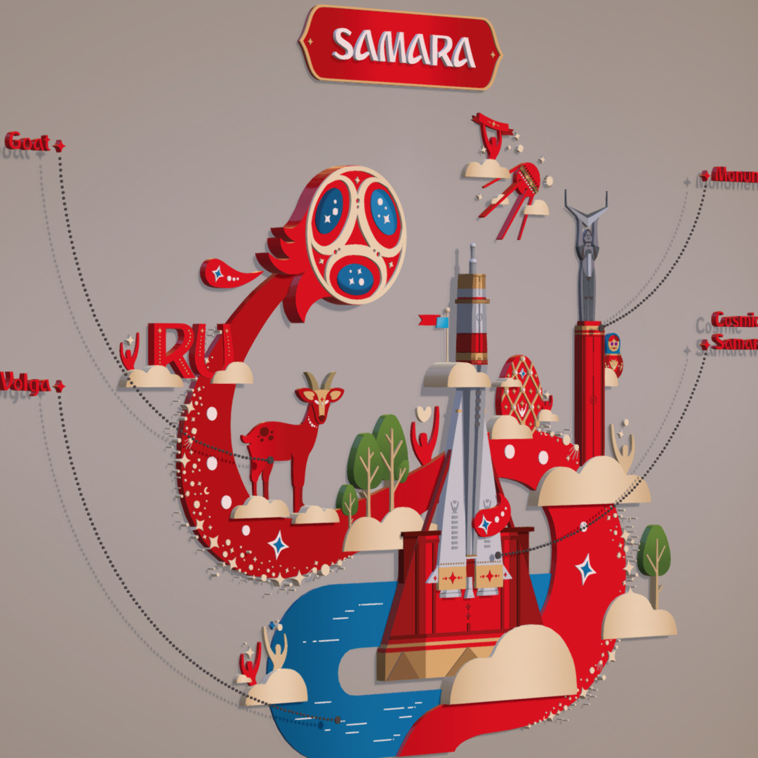 official world cup 2018 russia host city samara 3d model max 270643
