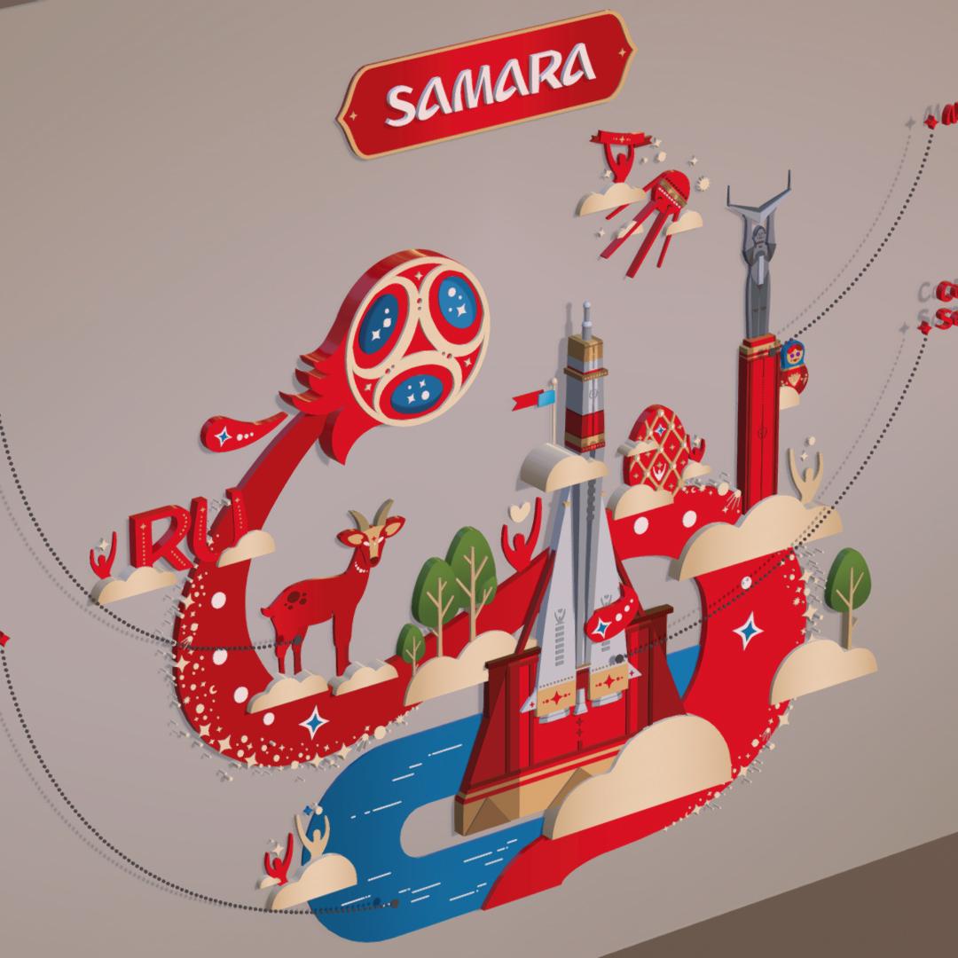 official world cup 2018 russia host city samara 3d model max 270644