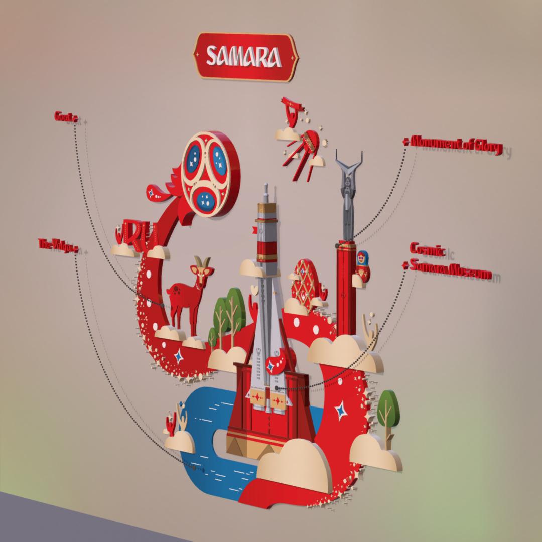 official world cup 2018 russia host city samara 3d model max 270647