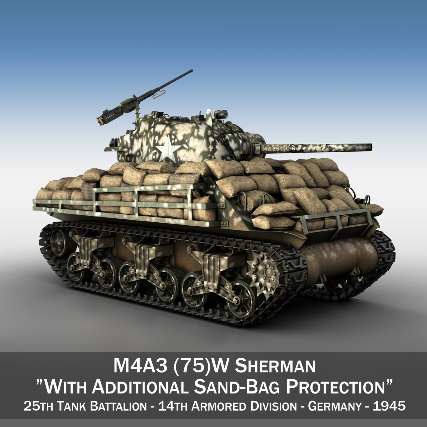 m4a3 (75) w sherman – 25tb 3d model 3ds fbx c4d lwo obj 270674