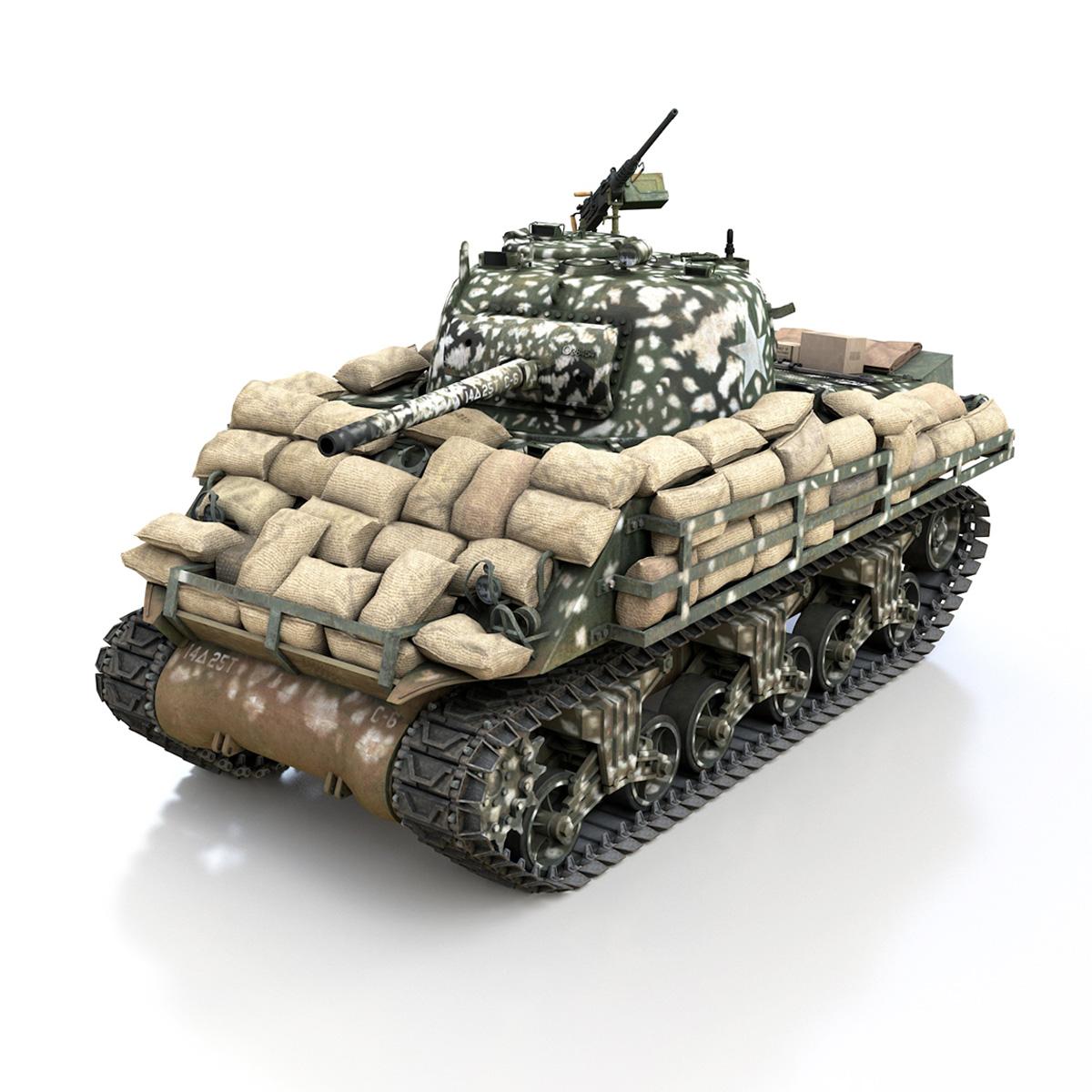 M4A3 (75) W Sherman - 25TB 3d model 3ds fbx c4d lwo lws lw obj 270675