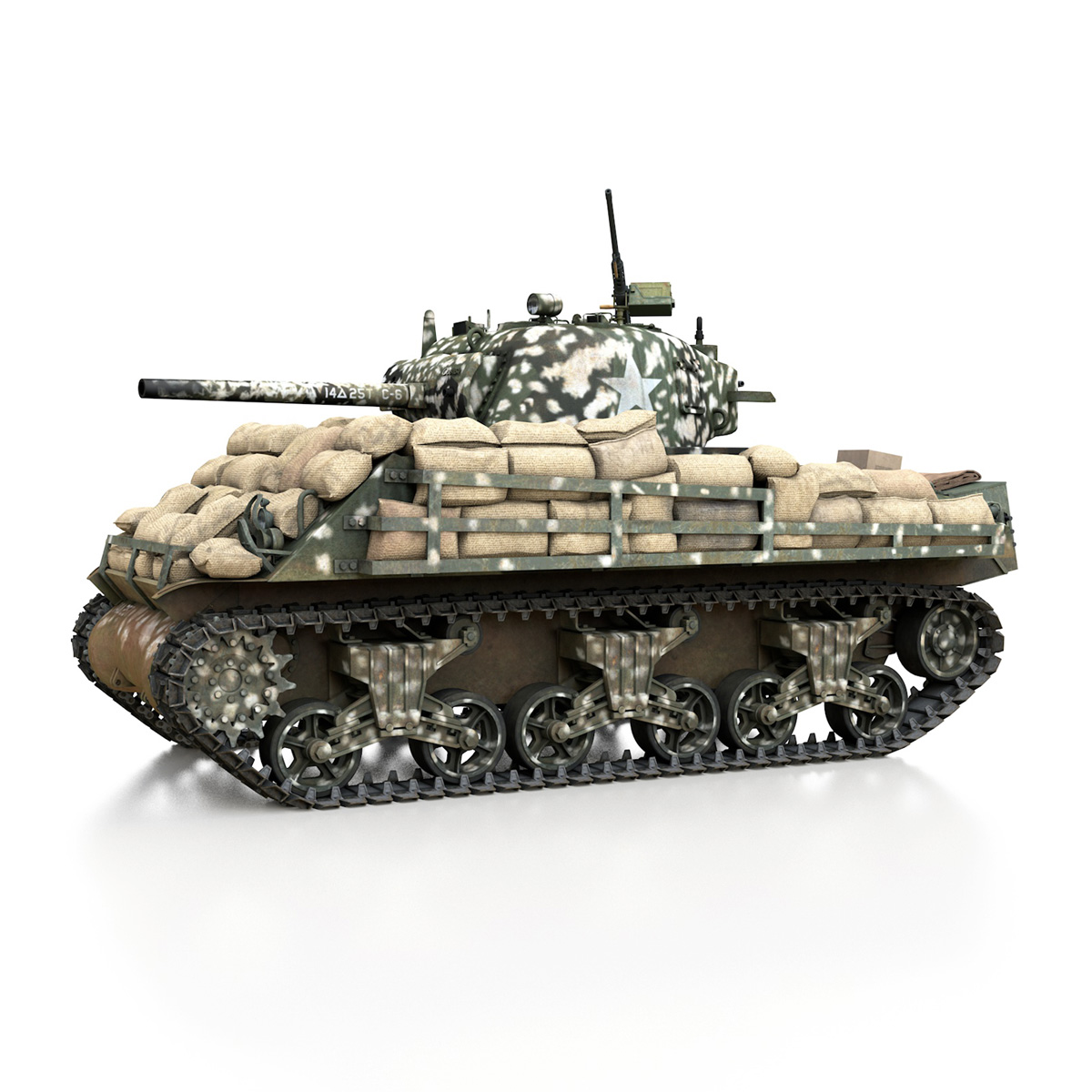 M4A3 (75) W Sherman - 25TB 3d model 3ds fbx c4d lwo lws lw obj 270676