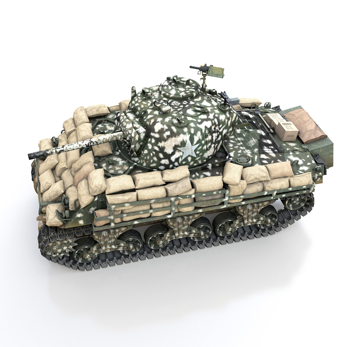 m4a3 (75) w sherman – 25tb 3d model 3ds fbx c4d lwo obj 270677