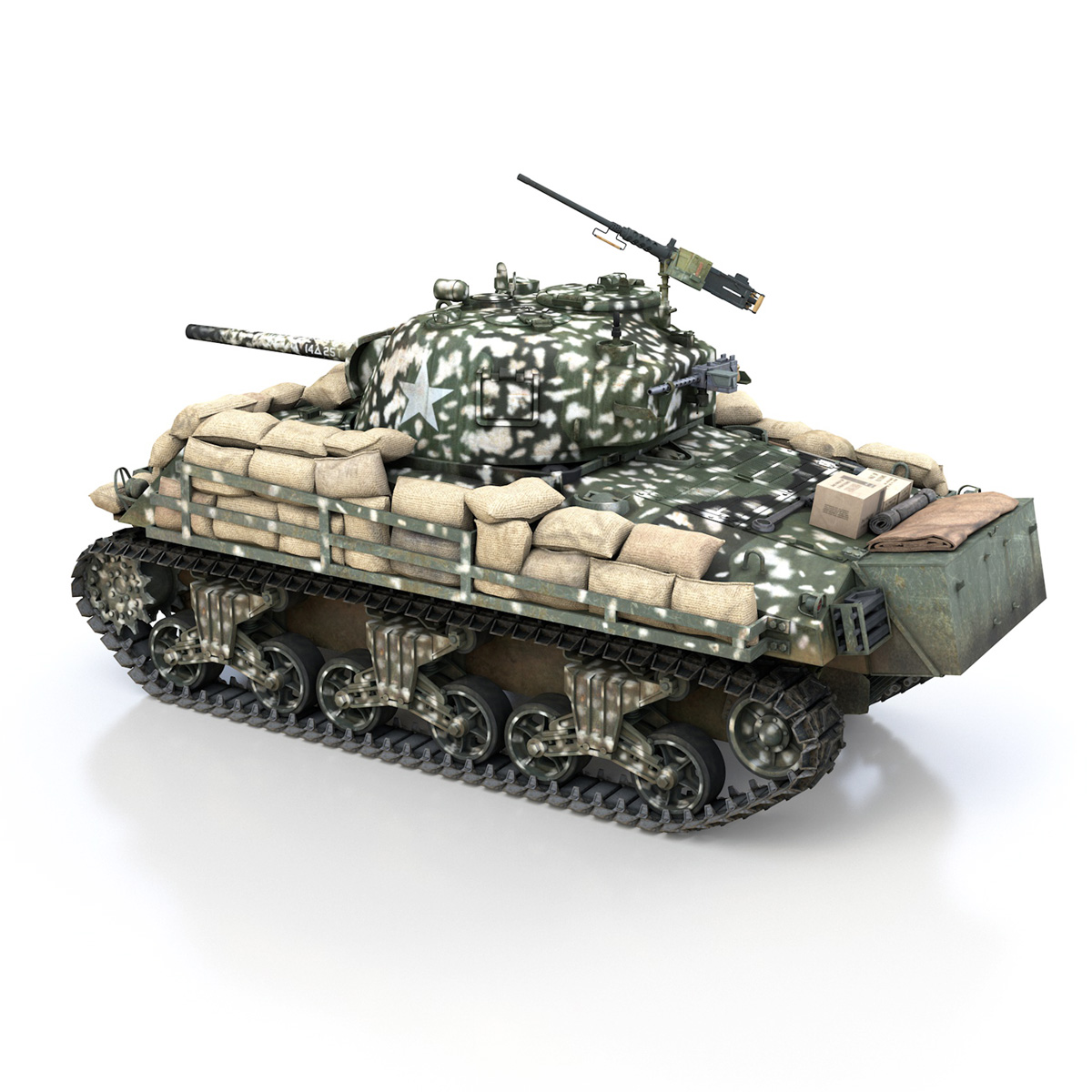 M4A3 (75) W Sherman - 25TB 3d model 3ds fbx c4d lwo lws lw obj 270678
