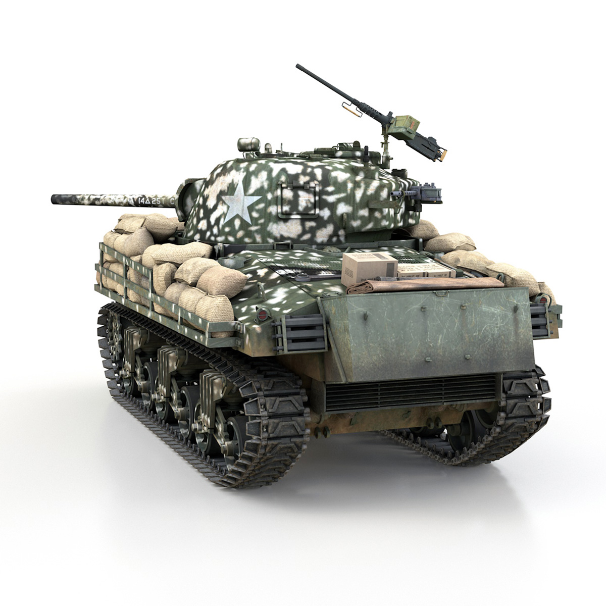 M4A3 (75) W Sherman - 25TB 3d model 3ds fbx c4d lwo lws lw obj 270679