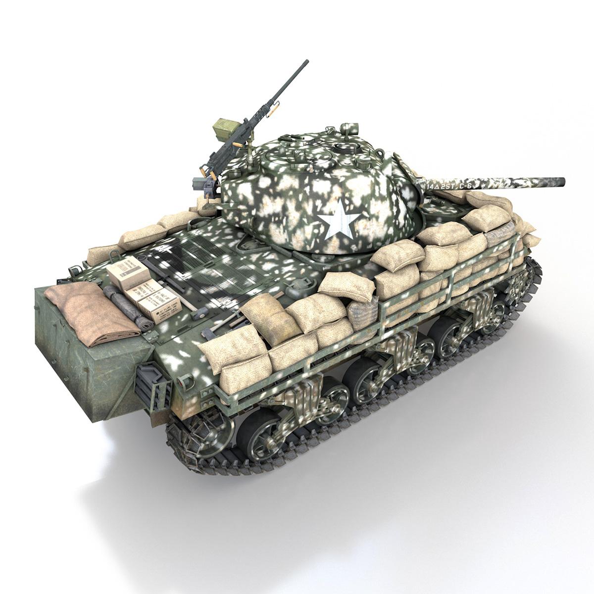 M4A3 (75) W Sherman - 25TB 3d model 3ds fbx c4d lwo lws lw obj 270680