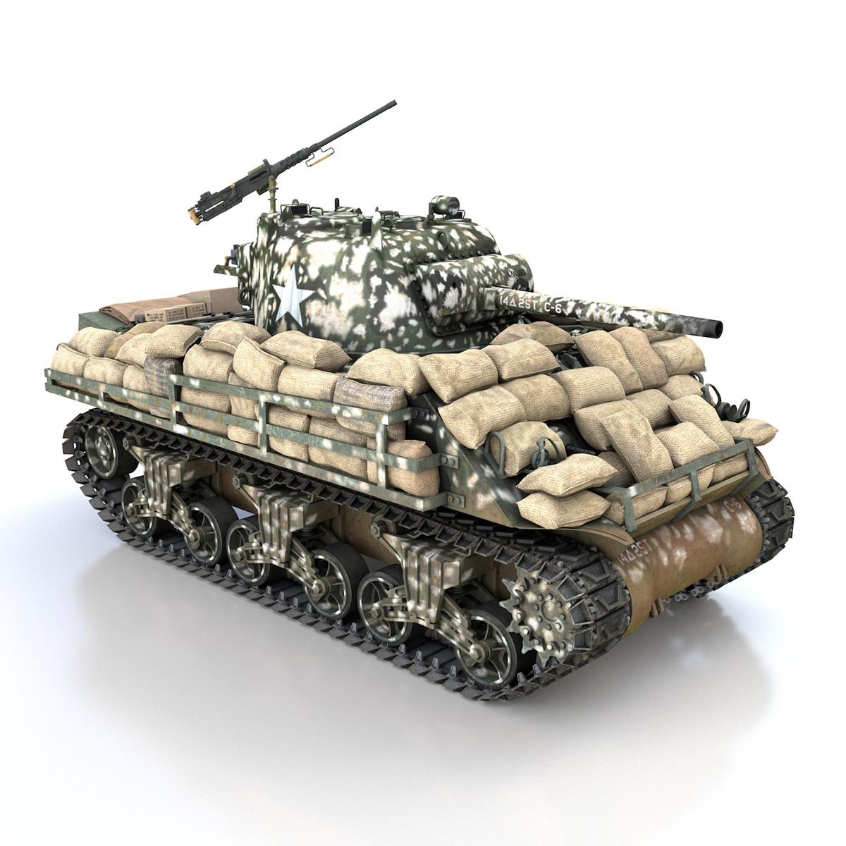 M4A3 (75) W Sherman - 25TB 3d model 3ds fbx c4d lwo lws lw obj 270681