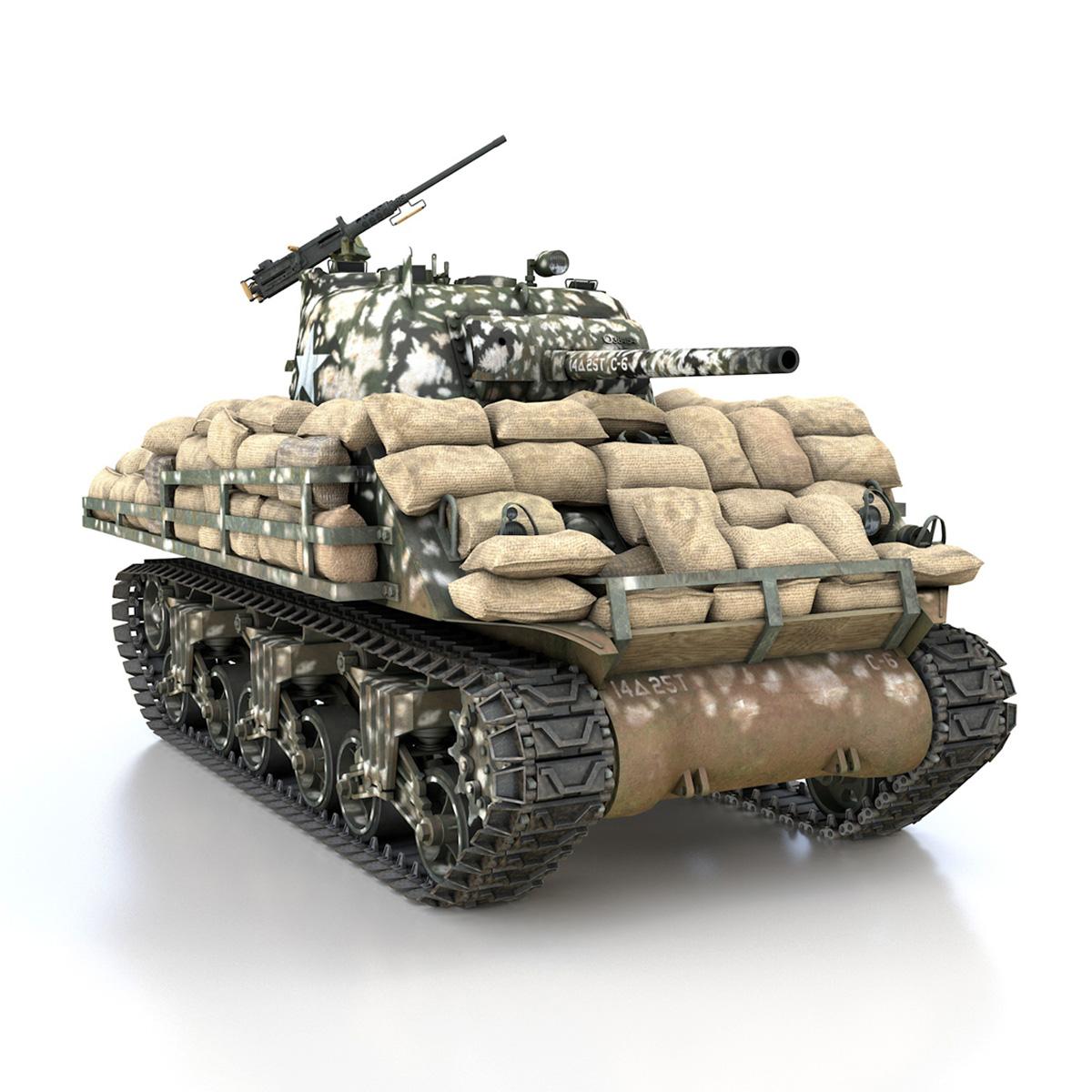 M4A3 (75) W Sherman - 25TB 3d model 3ds fbx c4d lwo lws lw obj 270682