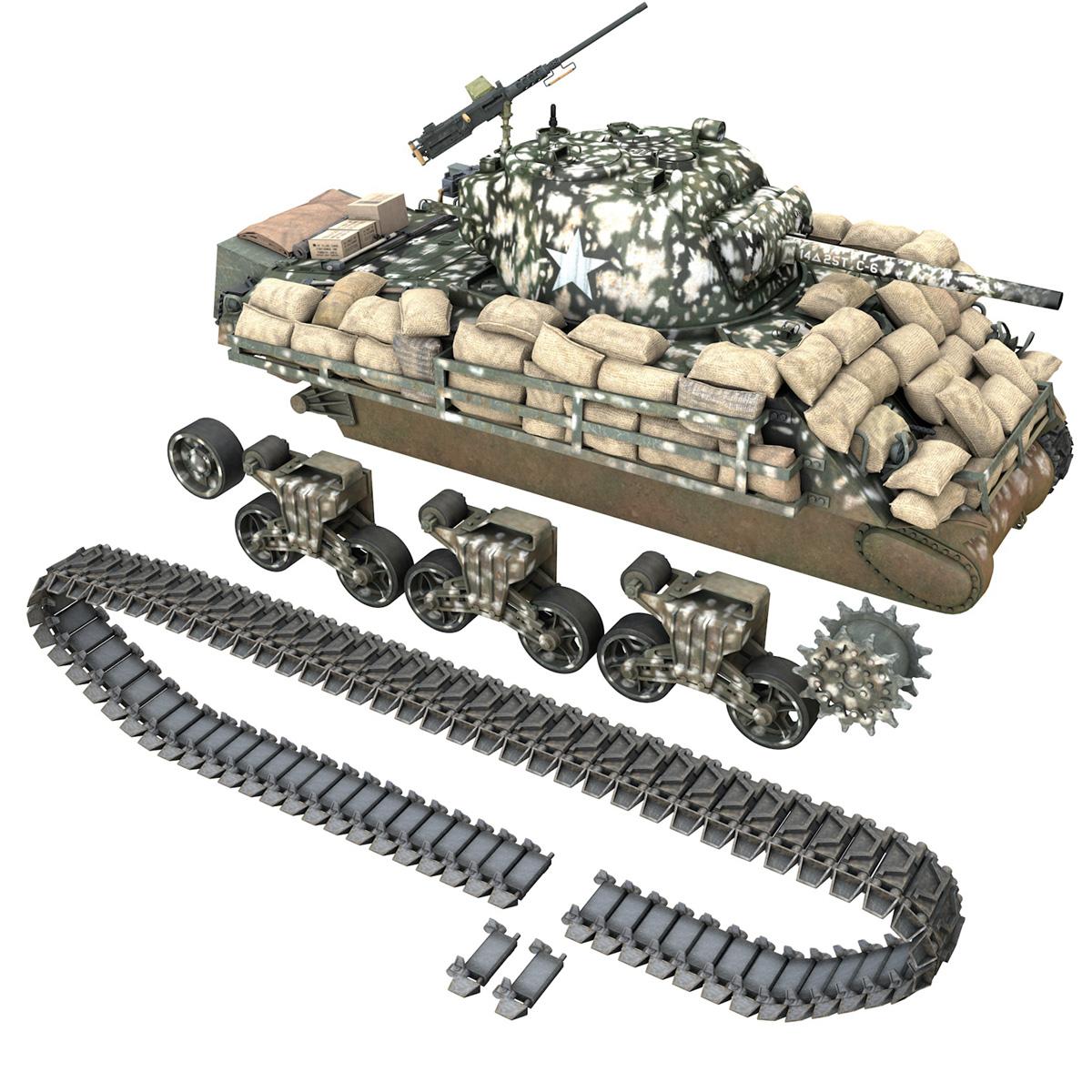 M4A3 (75) W Sherman - 25TB 3d model 3ds fbx c4d lwo lws lw obj 270685