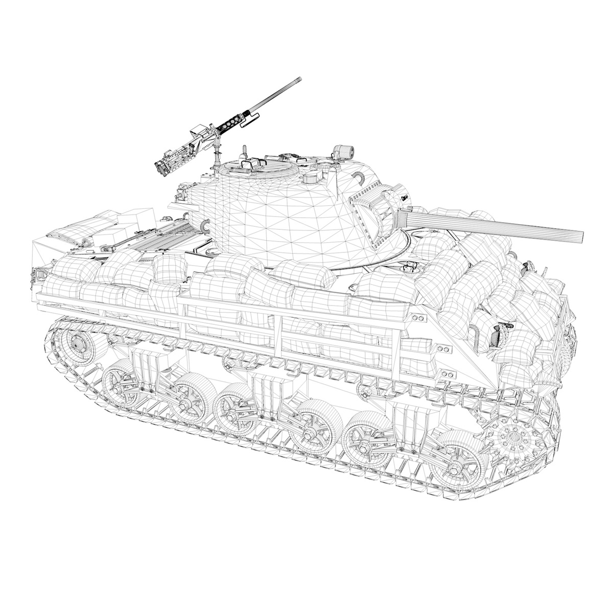 m4a3 (75) w sherman – 25tb 3d model 3ds fbx c4d lwo obj 270686