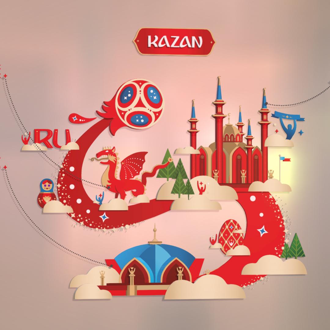 2018: Official World Cup 2018 Russia Host City KAZAN 3D Model