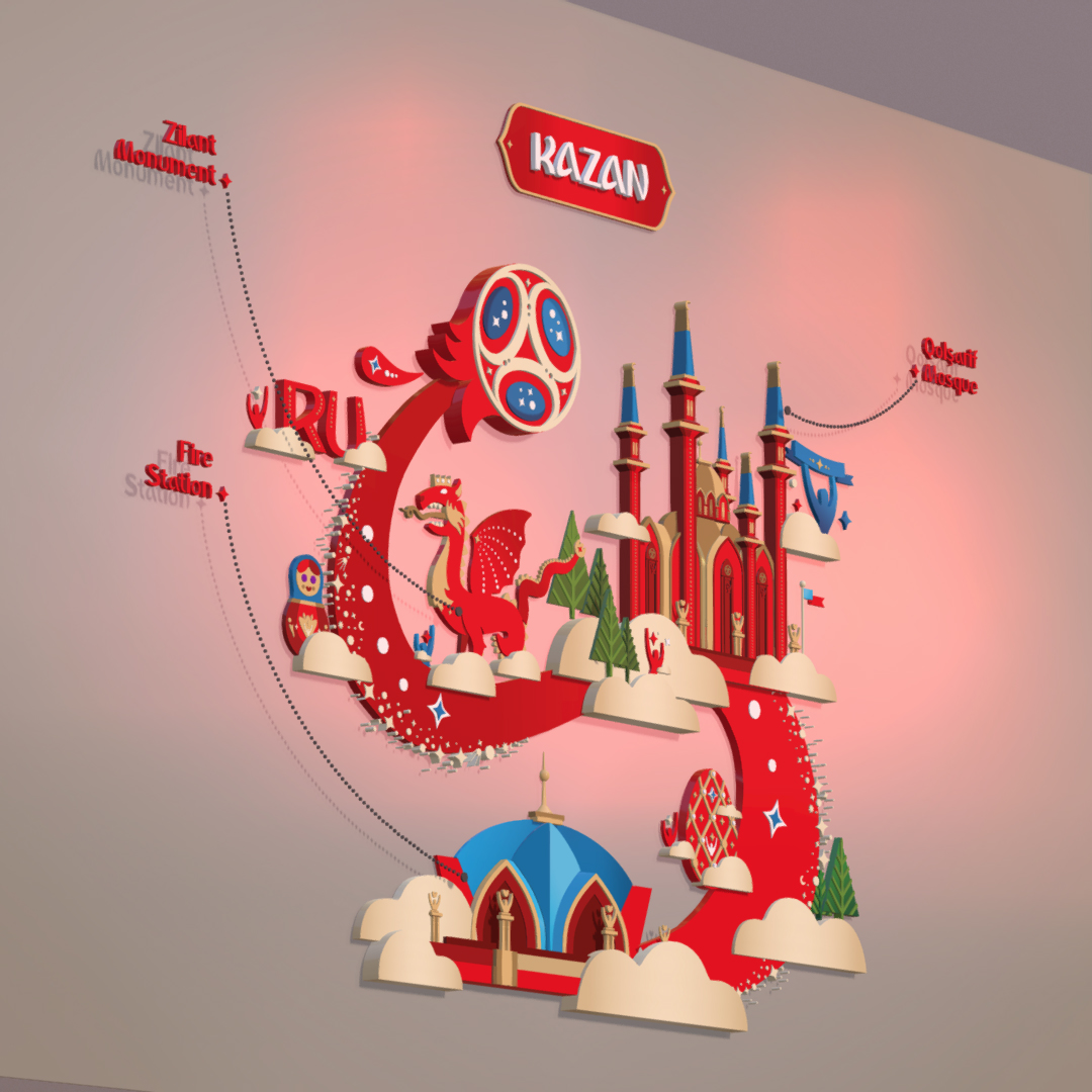 official world cup 2018 russia host city kazan 3d model max fbx jpeg jpg ma mb obj 270702