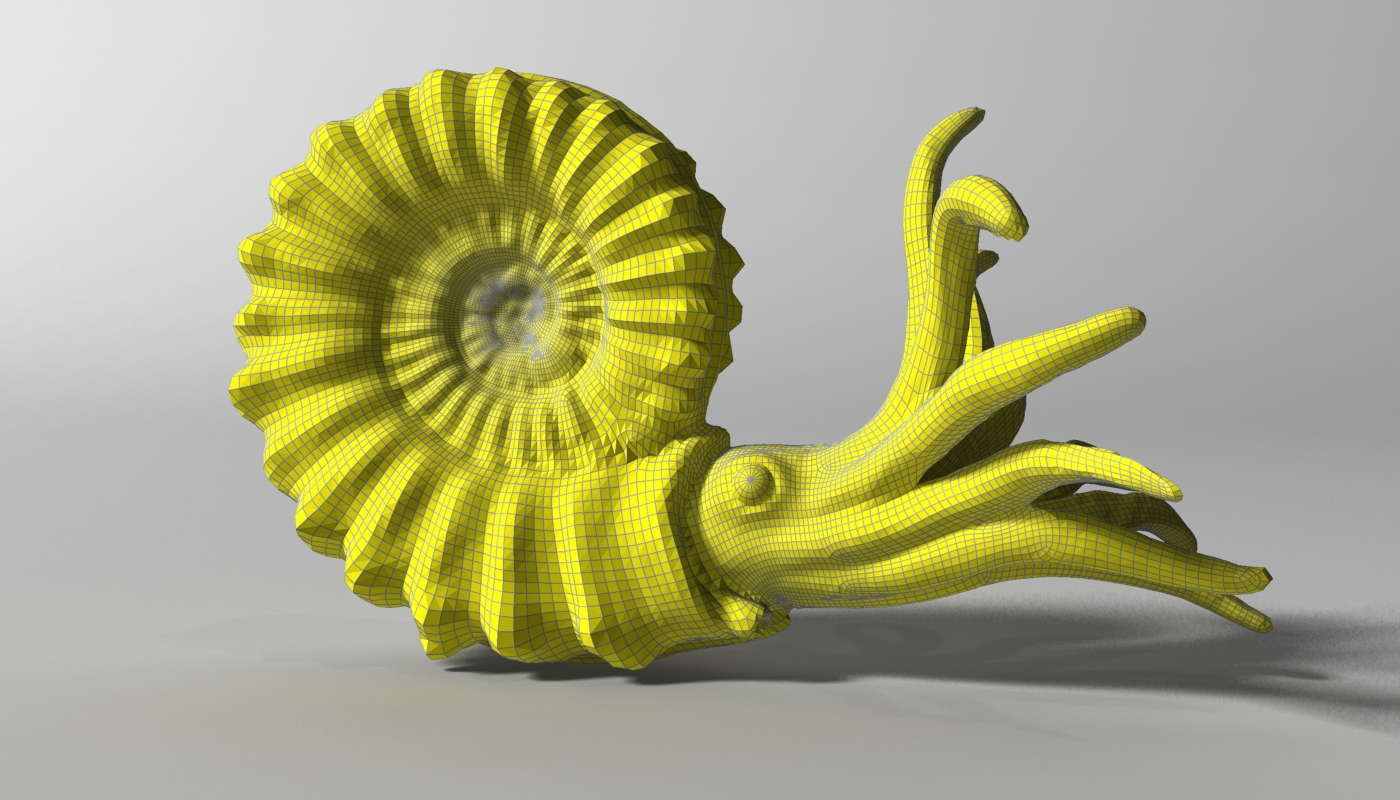 ammonite with complete underwater scene 3d model max fbx  obj 270749