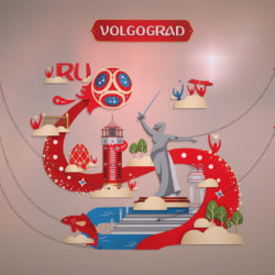 World Cup 2018 Russia host city VOLGOGRAD 3d model 0