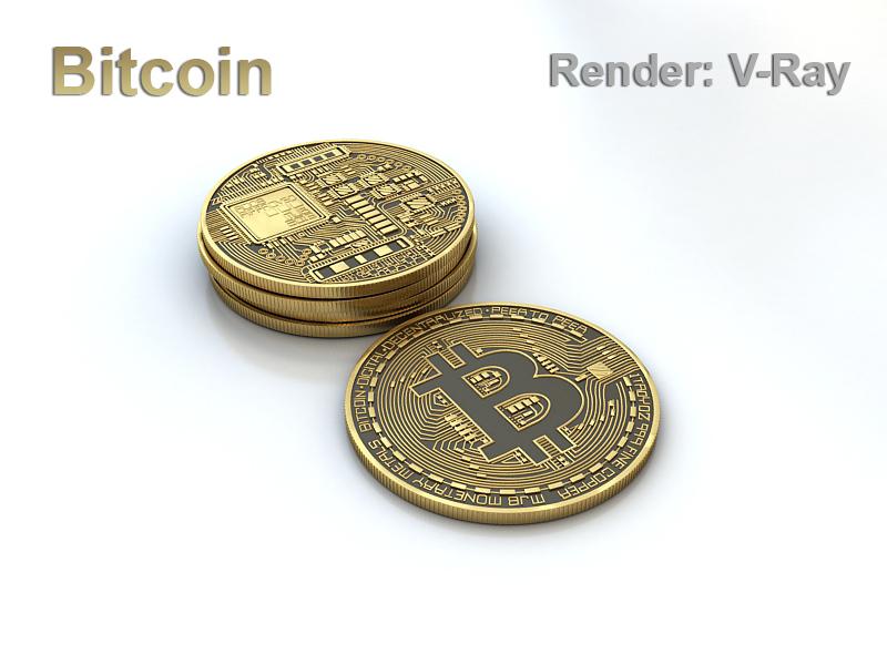 Bitcoin 3d model 3d model max 270807
