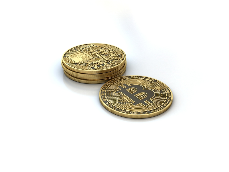 Bitcoin 3d model 3d model max