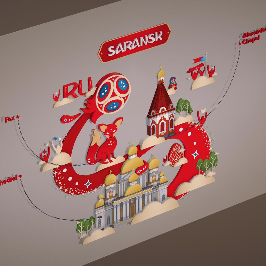 Fifa World Cup 2018 Russia Host City Saransk 3D Model -9522