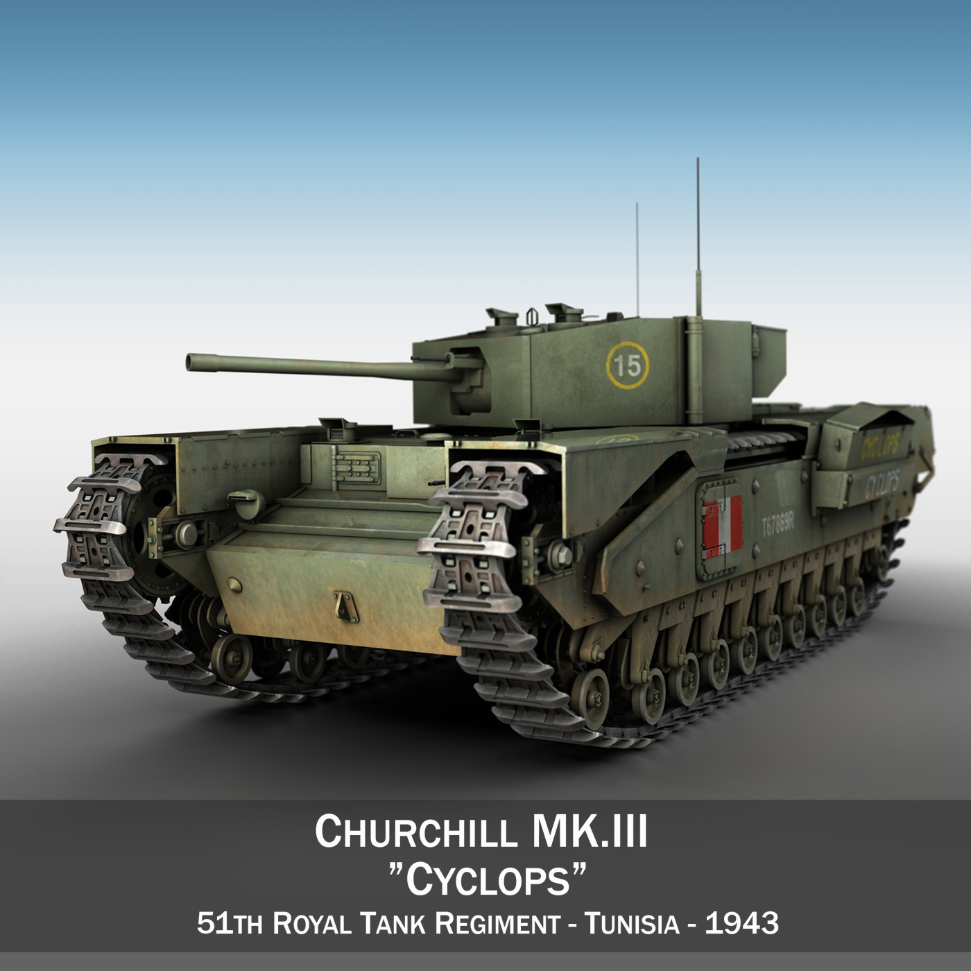 churchill mk.iii - ciklops 3d model 3ds fbx c4d lwo obj 270897