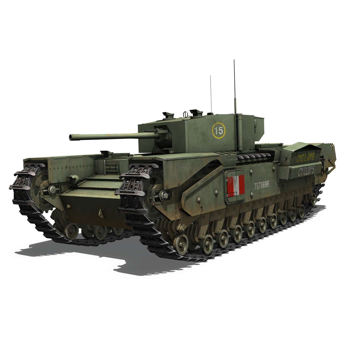 churchill mk.iii - cyclops 3d model 3ds fbx c4d lwo obj 270898
