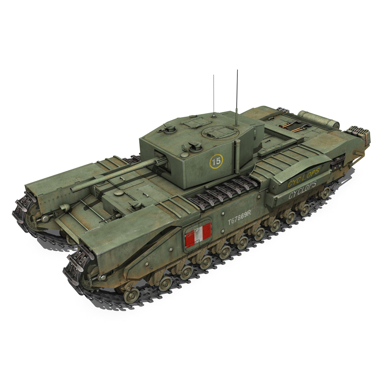 churchill mk.iii - cyclops 3d model 3ds fbx c4d lwo obj 270899