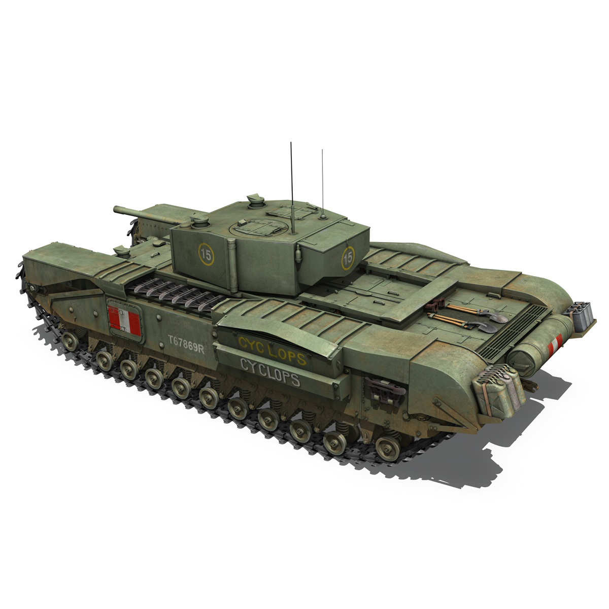 churchill mk.iii - cyclops 3d model 3ds fbx c4d lwo obj 270900
