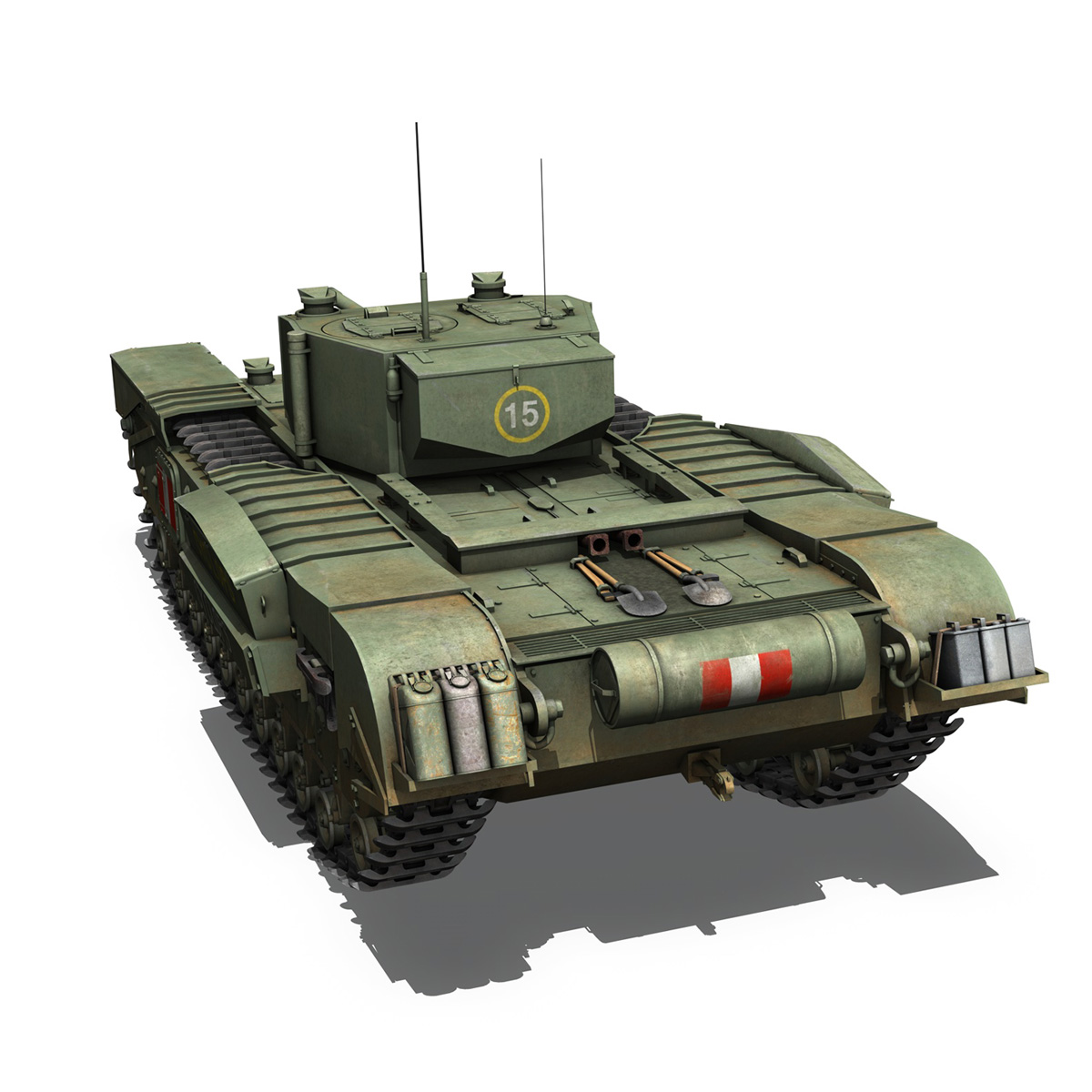 churchill mk.iii - cyclops 3d model 3ds fbx c4d lwo obj 270901