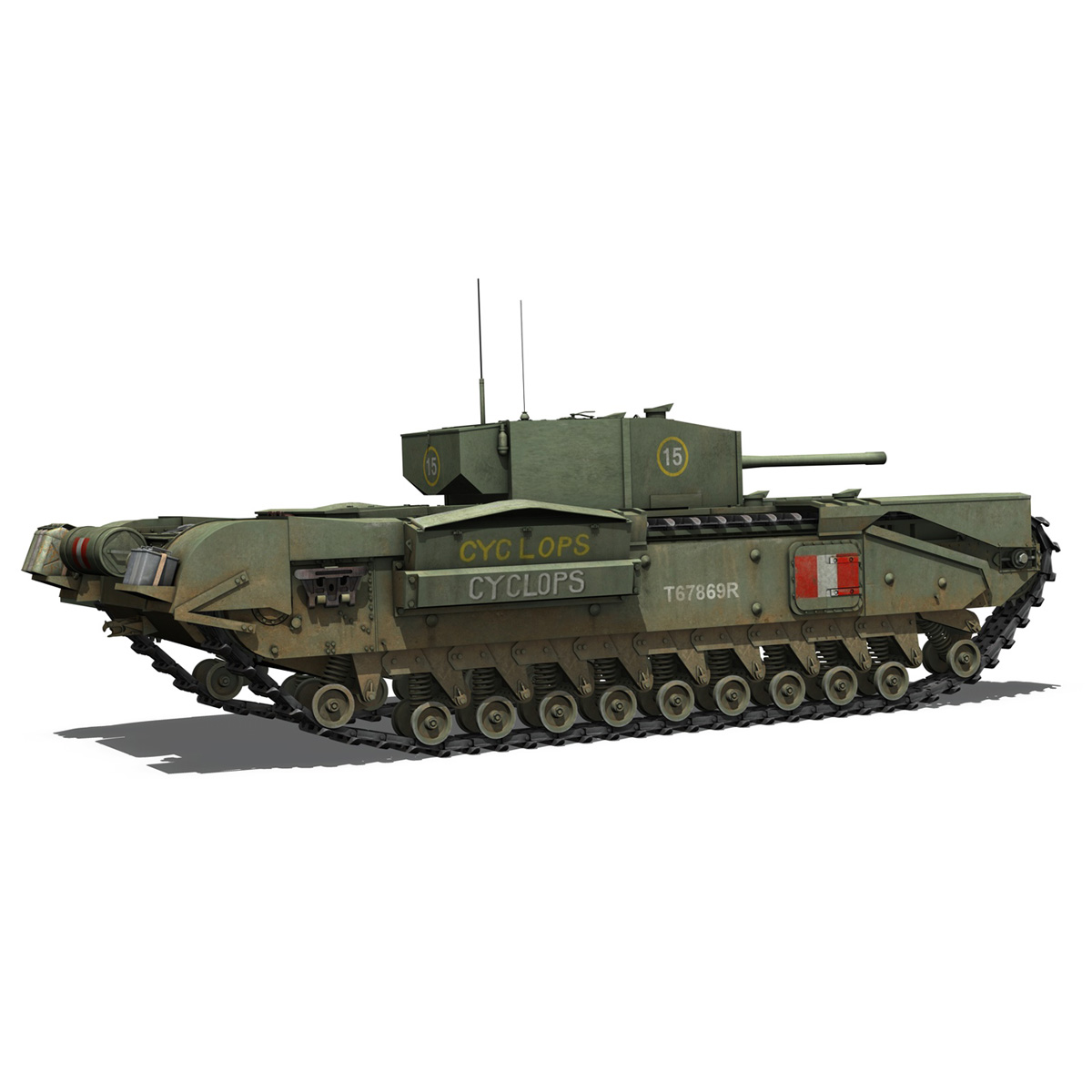 churchill mk.iii - cyclops 3d model 3ds fbx c4d lwo obj 270902