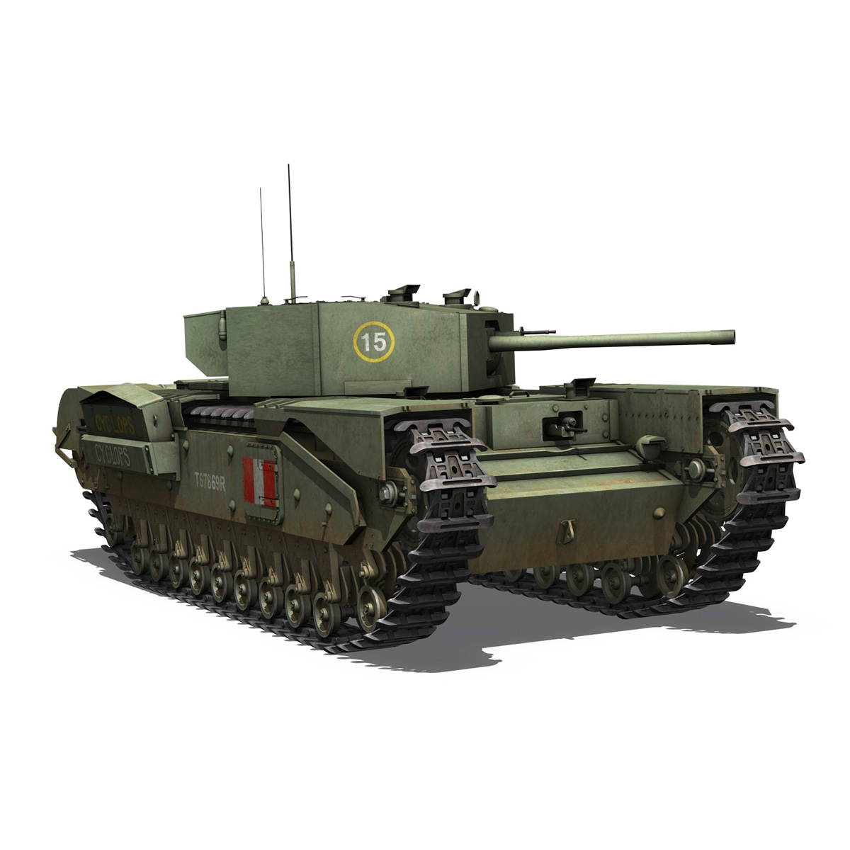 churchill mk.iii - cyclops 3d model 3ds fbx c4d lwo obj 270904