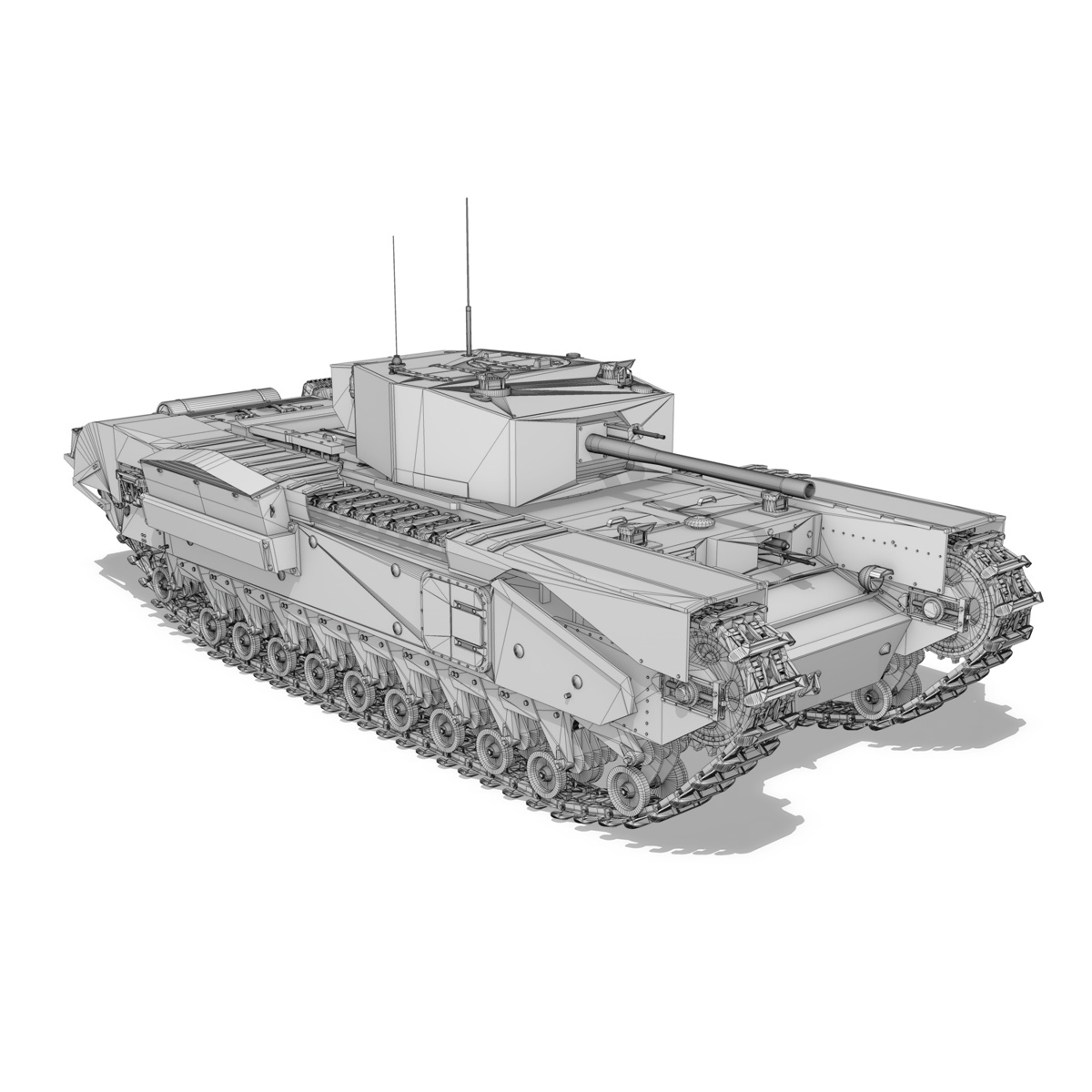churchill mk.iii - cyclops 3d model 3ds fbx c4d lwo obj 270907