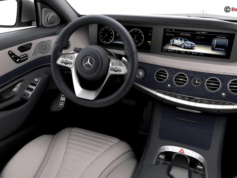 Mercedes S Class 2018 3d model high poly 3ds max fbx c4d lwo lws lw ma mb obj