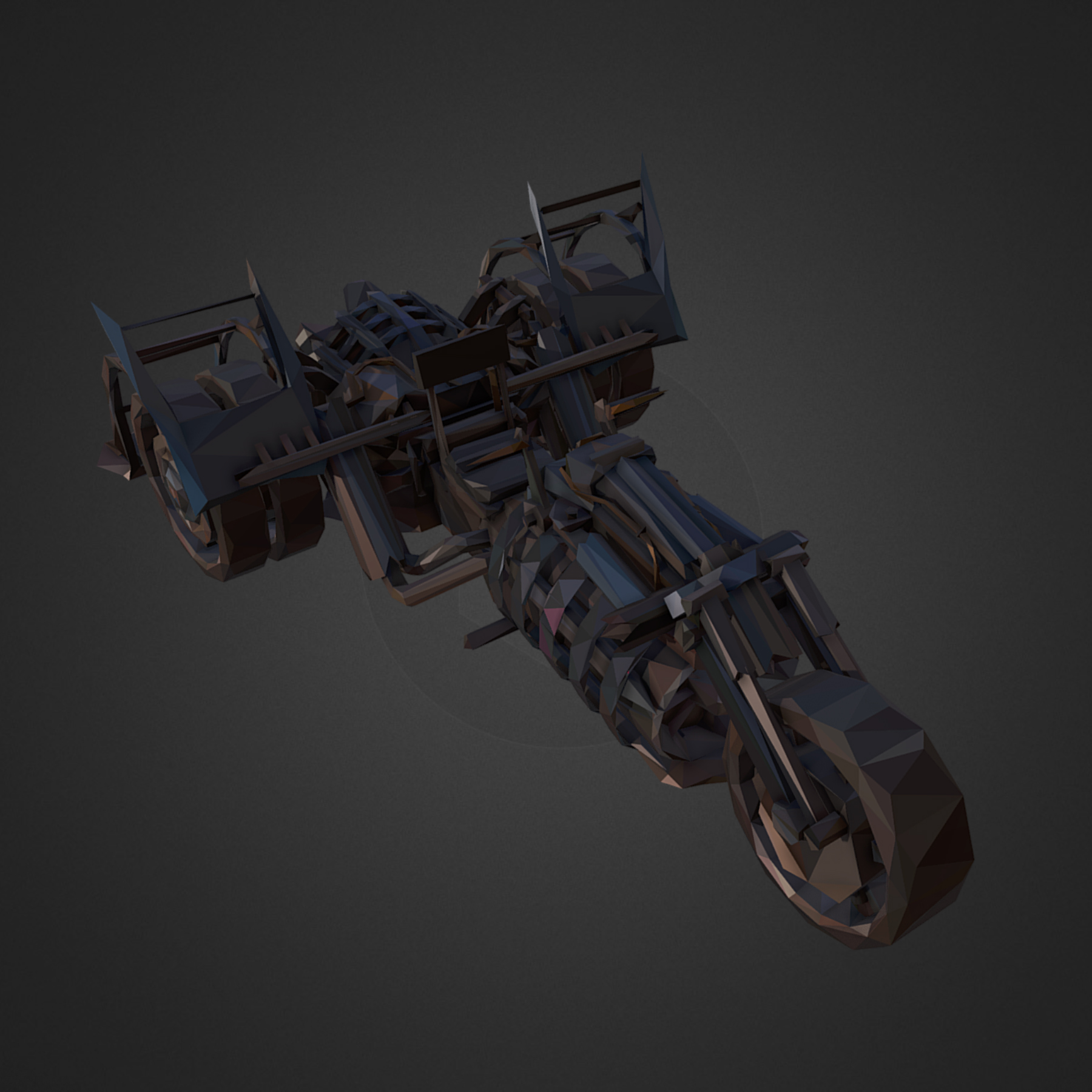rendah poligon seni steampunk treble bike 3d model 3ds max fbx ma mb tga targa icb vda vst pix obj 270983