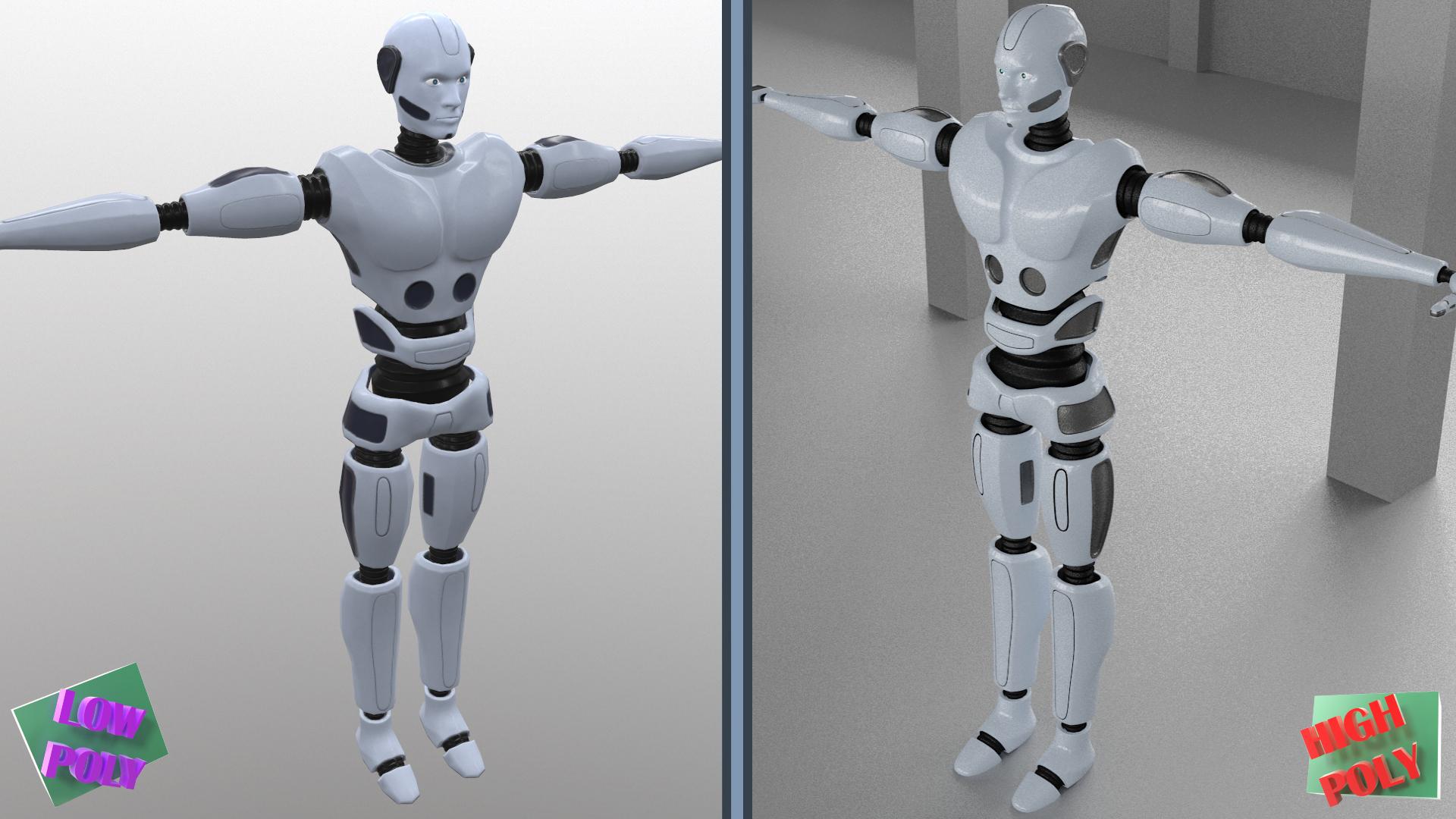 cymeriad dyn robot model 3d 3ds max fbx obj 271027