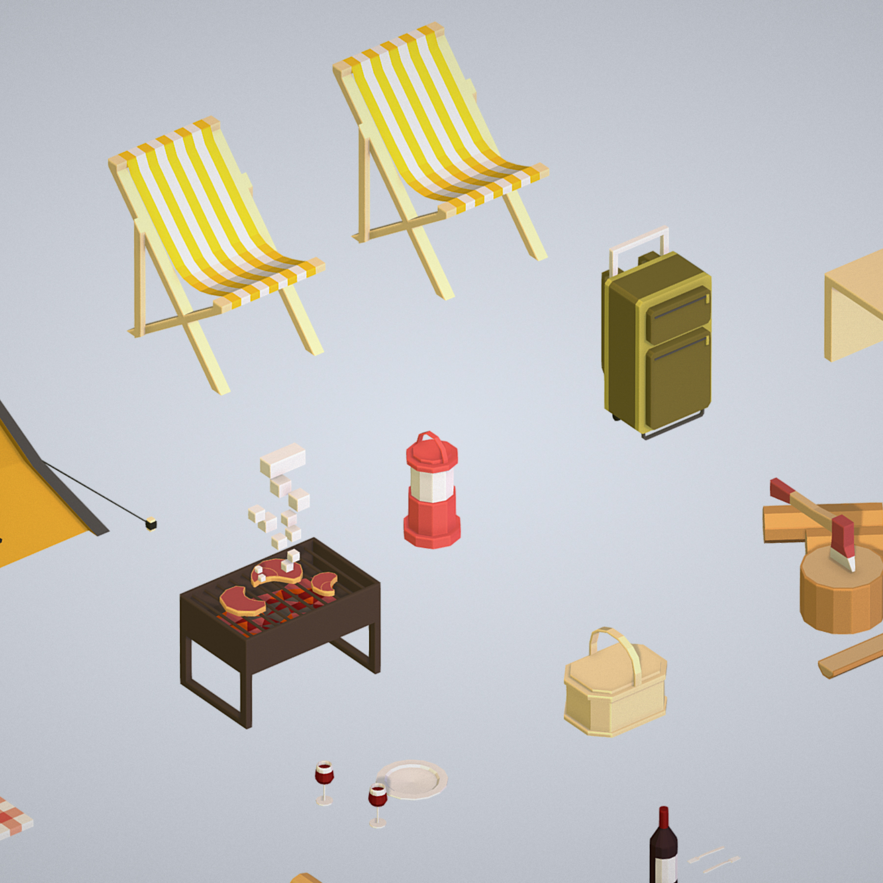 objects recreation tourism cooking bbq steak 3d model 3ds max fbx ma mb png obj 271061